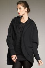 Donna Karan New York Wool Fleece Cozy Jacket - Lyst