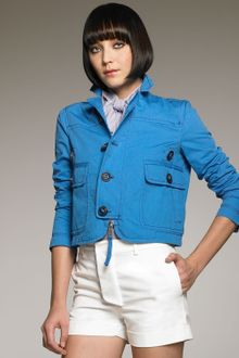 DSquared2 Cropped Twill Jacket - Lyst