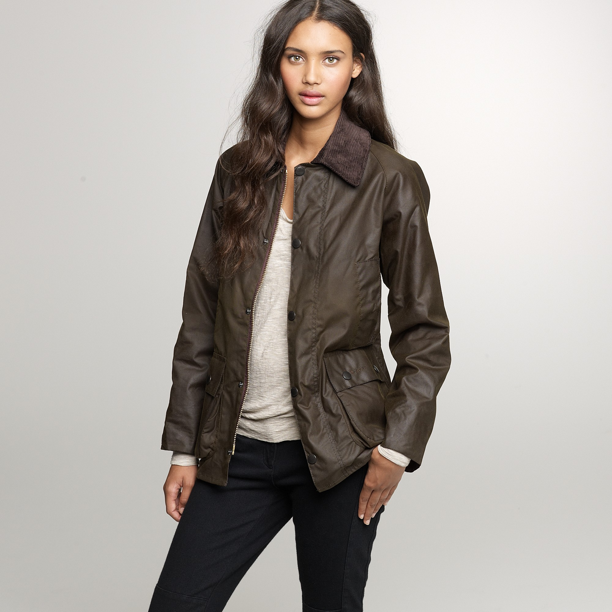 Lyst J Crew Barbour 174 Classic Bedale Jacket In Green