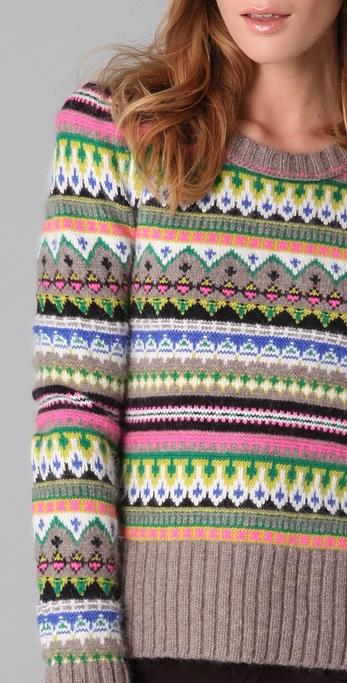 Lyst - Juicy couture Bright Fair Isle Pullover
