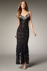 Julian Joyce By Mandalay Beaded Lace Gown - Lyst