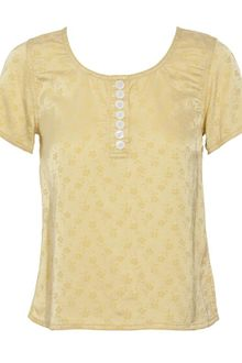 Marc Jacobs Printed Silk-blend Blouse - Lyst