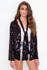 Nasty Gal Liza Sequin Jacket - Lyst