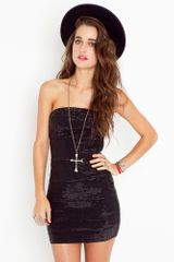 Nasty Gal Metal Mania Dress - Black - Lyst