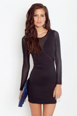 Nasty Gal Seeing Stripes Dress in Black - Lyst