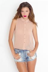 Nasty Gal Crystallized Tail Blouse - Lyst