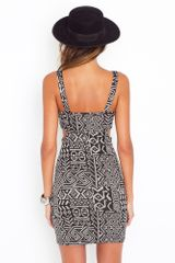 Nasty Gal Kenya Cutout Dress in Gray - Lyst