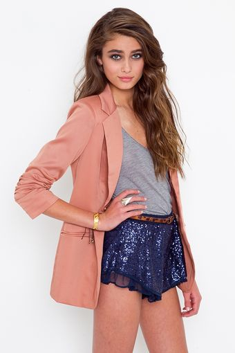 Nasty Gal Ariel Sequin Shorts - Lyst