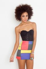 Nasty Gal Faded Colorblock Skirt - Lyst
