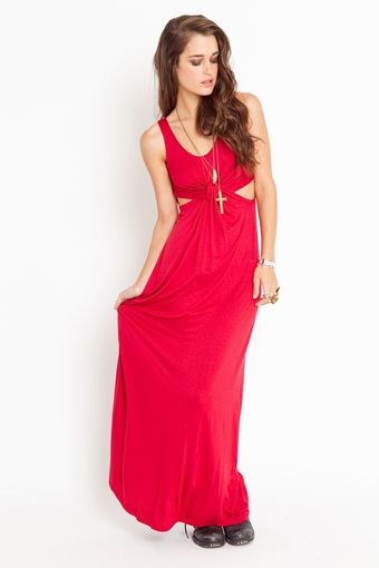 Nasty Gal Knotted Maxi Dress - Lyst