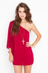 Nasty Gal Serious Flare Dress - Crimson - Lyst