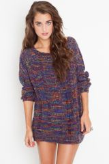 Nasty Gal Shredded Rainbow Knit - Lyst