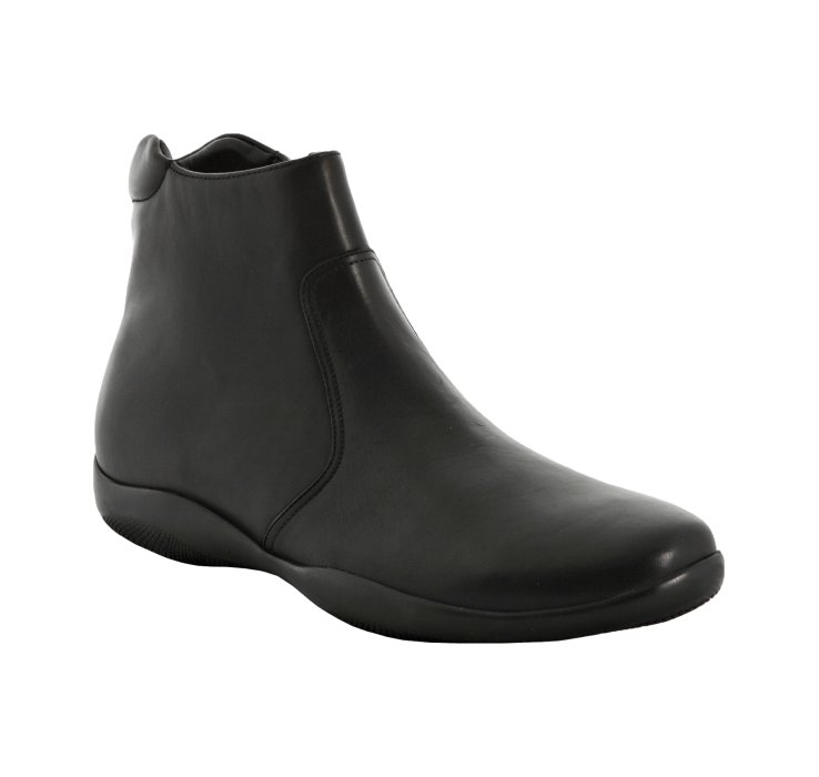 Prada Sport Black Leather Ankle Boots 3 on Color Learn Rain