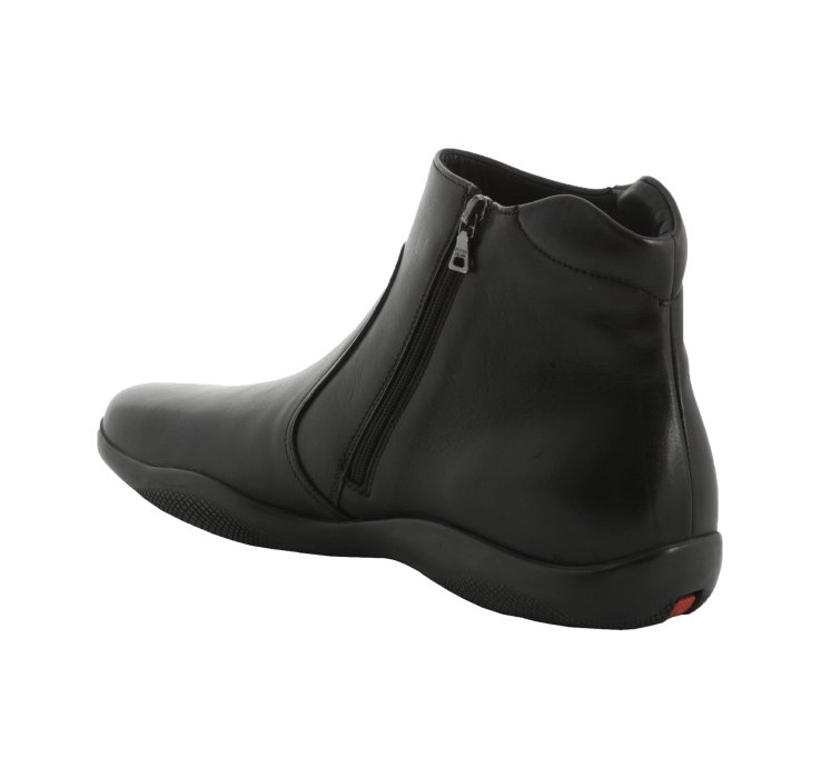 Lyst Prada Sport Black Leather Ankle Boots In Black For Men