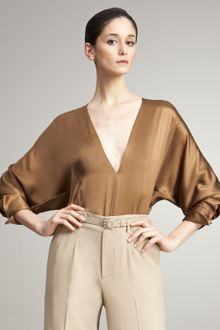 Ralph Lauren Collection Hester Silk Charmeuse Blouse - Lyst