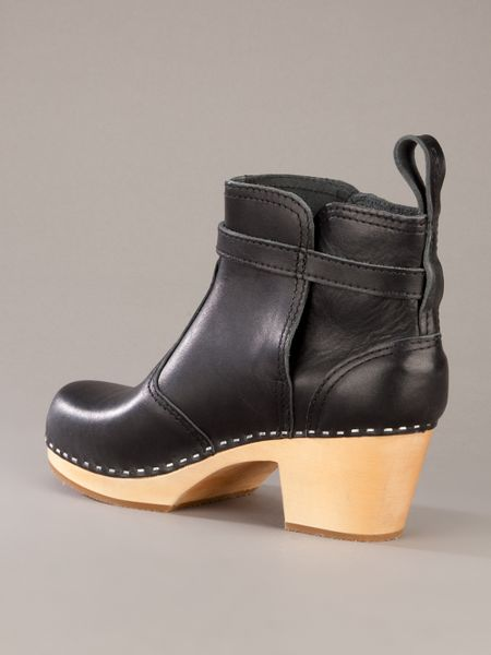 Swedish Hasbeens Jodphur Clog Boot In Black Lyst