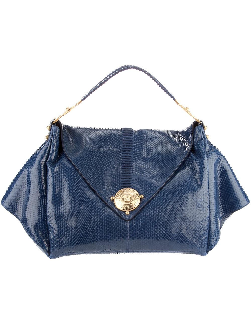 Blue Python Bag