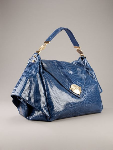 Versace Python Bag in Blue