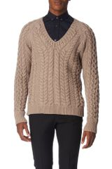 Burberry Prorsum Cable-knit Jumper - Lyst