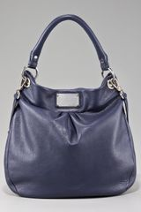 Marc By Marc Jacobs Classic Q Hillier Hobo in Blue (indigo) - Lyst