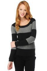Splendid Cashmere Crew Neck Sweater - Lyst