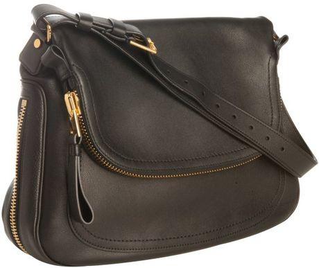 Black Leather Over Shoulder Bag 50