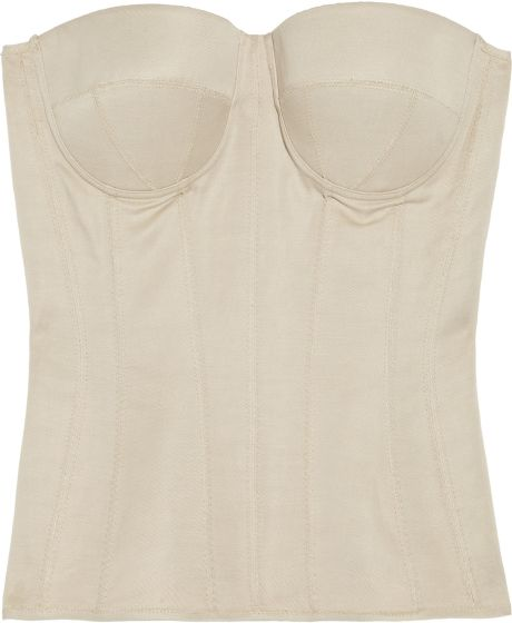 Bottega Veneta Cotton and Linenblend Corset in Beige - Lyst