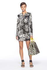 Diane Von Furstenberg Nana Dress in Black (star meadow) - Lyst
