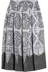 Jonathan Saunders Emilia Pleated Cotton-blend Skirt - Lyst