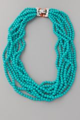 Kenneth Jay Lane Turquoise Clasp Necklace - Lyst