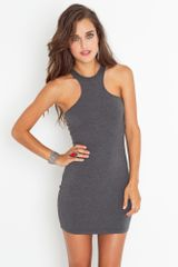 Nasty Gal Indra Dress - Charcoal - Lyst