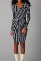 Rachel Roy Rick-rack Striped Dress - Lyst