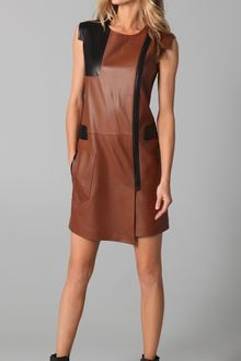 Rag & Bone Valencia Leather Dress - Lyst