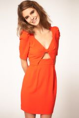ASOS Collection Asos Cut Out Front Bow Dress