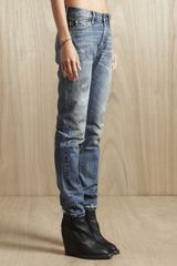 Levi's Vintage Clothing Levis Vintage Clothing Womens 505 Jeans Customised Ragged in Blue - Lyst