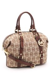 Michael by Michael Kors Medium Bedford Monogram Satchel - Lyst