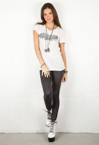 Zoe Karssen  Bat Loose Fit Tee  in White - Lyst