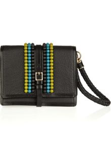 Burberry Prorsum Beaded Textured-leather Wristlet Clutch - Lyst