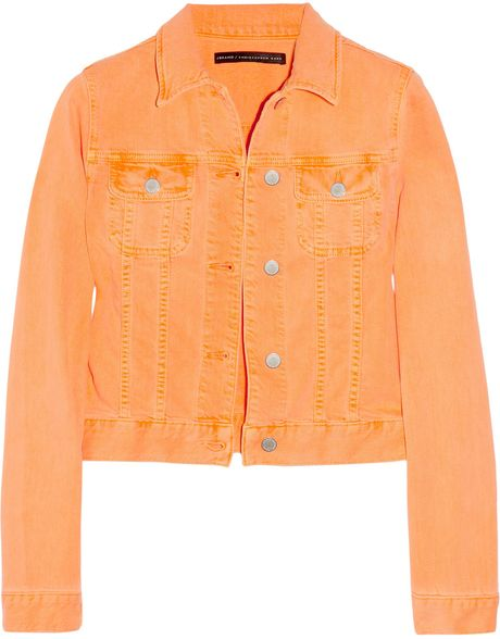 Christopher Kane Neon Stretch-Denim Jacket in Blue (denim)