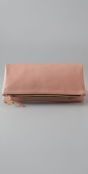 Clare Vivier Fold Over Clutch in Beige (nude) - Lyst