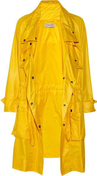 Emma Cook SatinShell Trench Coat in Yellow - Lyst