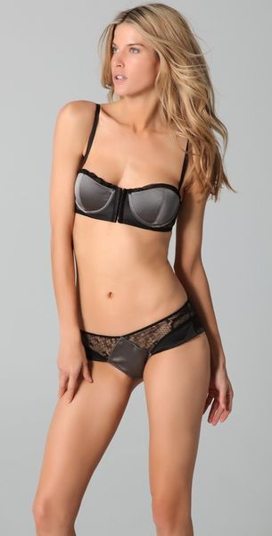Kiki De Montparnasse Muse Corselette Bra in Gray (black) - Lyst