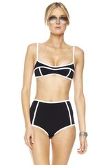 Michael Kors Seamed Solids Retro Bikini - Lyst