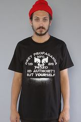 Obey The No Authority Basic Tee in Black - Lyst