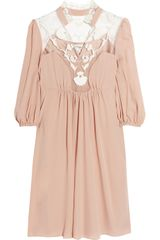 Temperley London Aphrodite Silk-Crepe and Lace Dress - Lyst