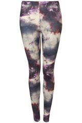 Topshop Space Print Legging in Purple (brown) - Lyst