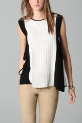 Yigal Azrouel Pleat Front Top - Lyst