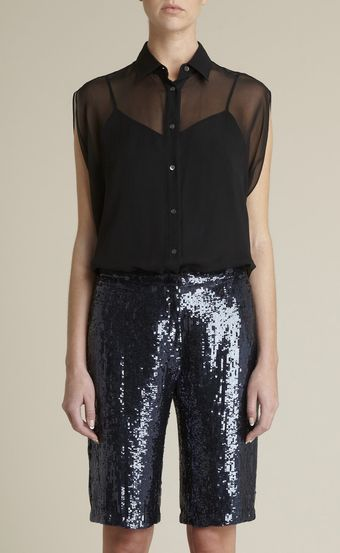Adam Lippes Silk Chiffon Circle Shirt - Lyst