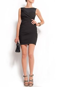 Mango Draped Dress - Lyst