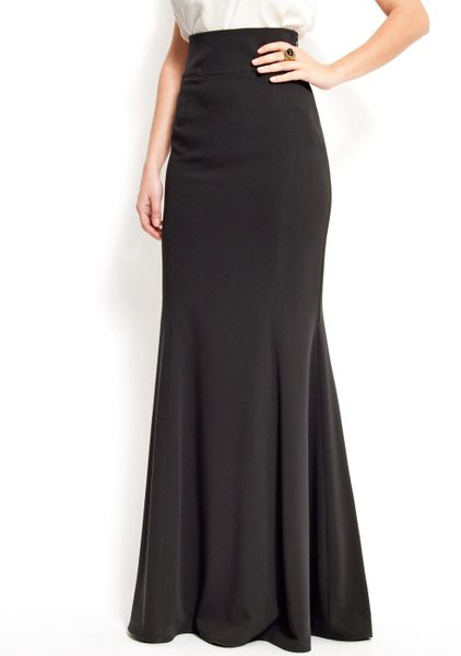 mango maxi skirt with a high waist in black 02 lyst